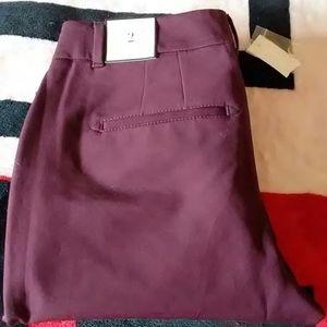 White House Black Market plum colored pants
